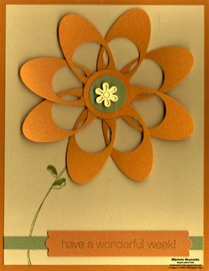 flower with oval and circle punch