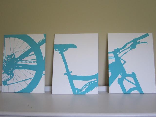 #DIY Silhouette Paintings MTB
