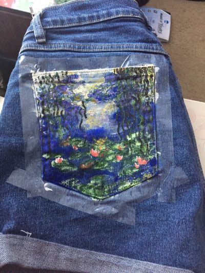 painted jean pockets