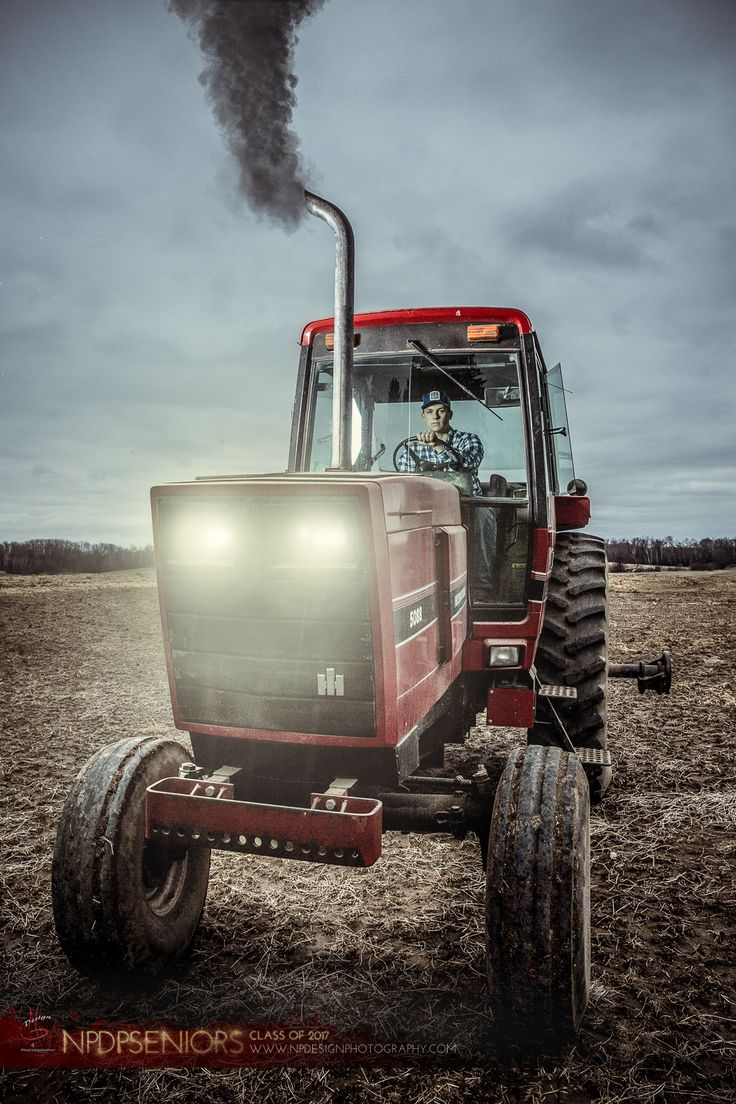 NP Design & Photography | Senior Photography | Senior Pictures | Tractor Senior Pictures | International Harvester Tractors | Photo Manipulation