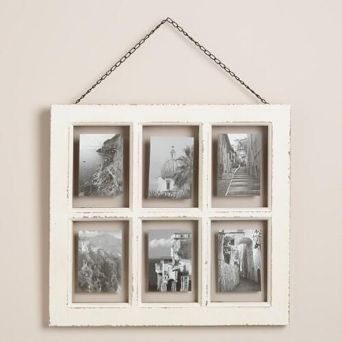 One of my favorite discoveries at WorldMarket.com: White Vintage 6-Photo Frame