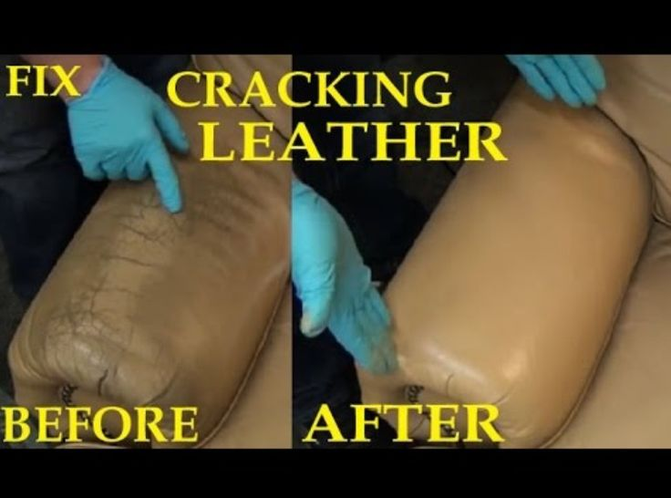 Before And After Picture Fix Cracked Leather Leather