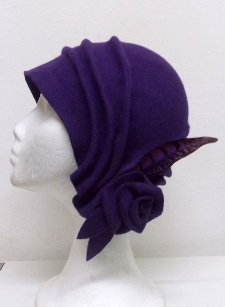 Cloché hat, 20s hat, 20s style hat, Felt hat, Wool hat, Vintage hat, Retro hat, Winter hat, By size hat, handmade hat by LidiaArtThings on Etsy https://www.etsy.com/listing/210805720/cloche-hat-20s-hat-20s-style-hat-felt