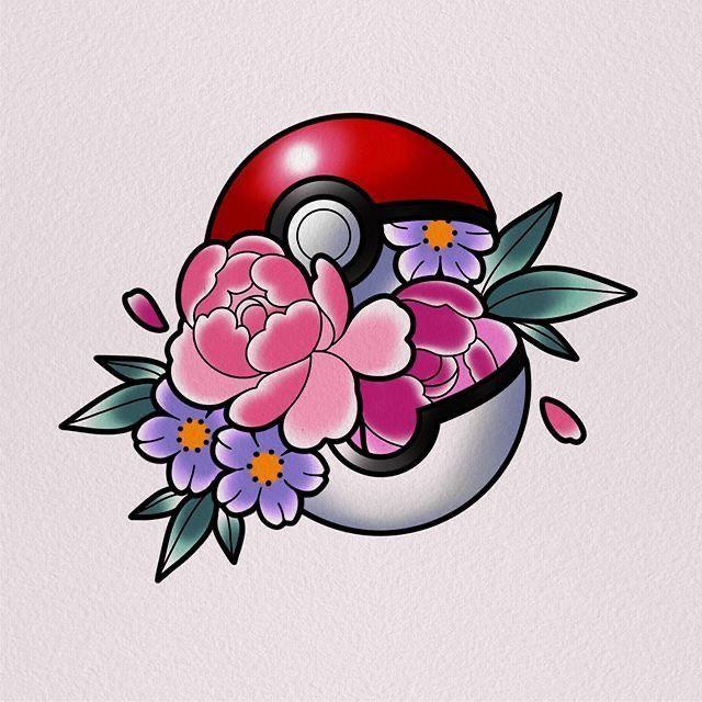Pokeball Tattoo, Pokemon Tattoo, Tattoo Drawings, Body Art Tattoos, New Tattoos, Cool Tattoos, Tattoo Bein, Gaming Tattoo, Tatuagem Old School