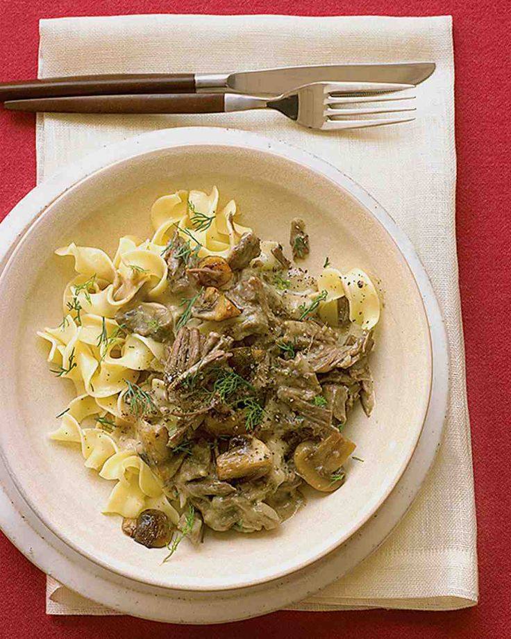 Classic Beef Stroganoff Recipe--Hadn't thought of beef stroganoff in years until a friend started talking about it the other day.  Then I couldn't stop thinking about it!