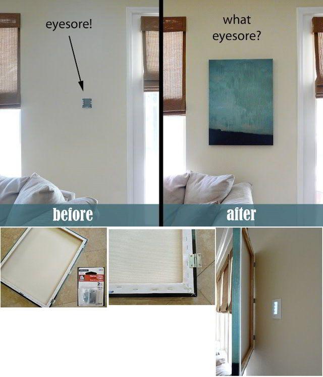 El termostato y los paneles de las alarmas