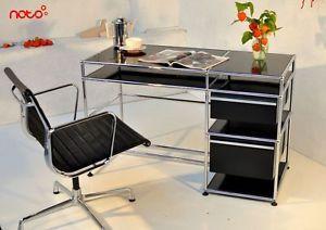 Schreibtisch-Sekretaer-Schminktisch-USM-Haller-schwarz-Tisch