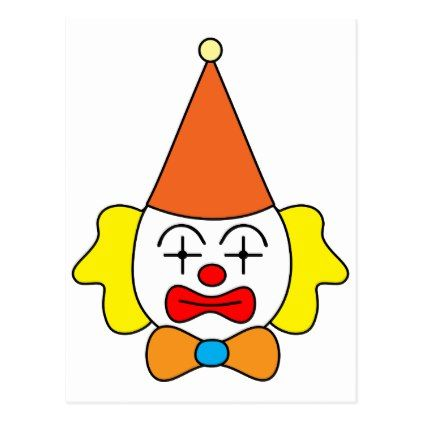 Clown - funny face. postcard - merry christmas postcards postal family xmas card holidays diy personalize
