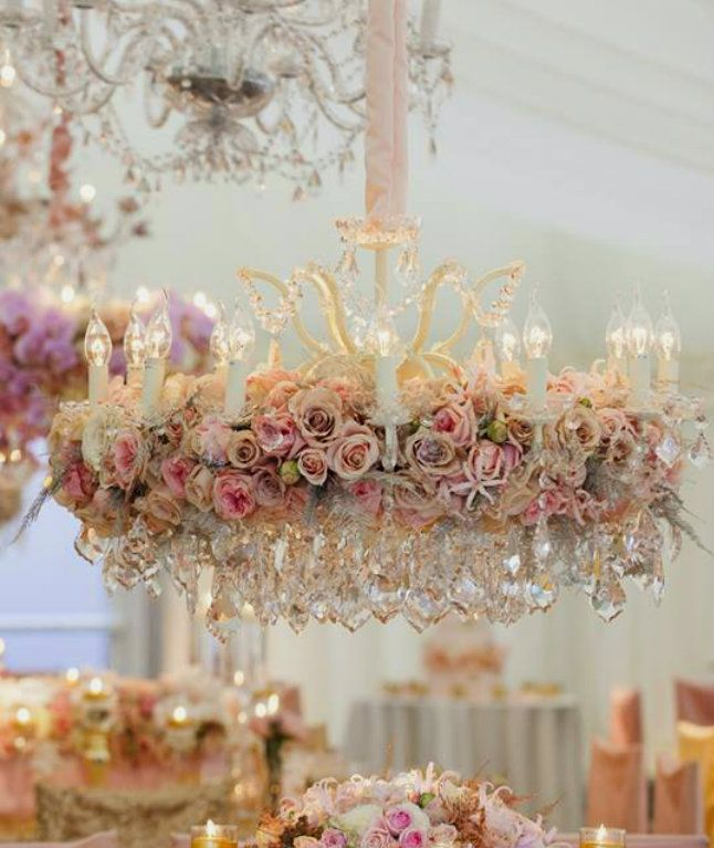 WOWWW...A GORGEOUS DIY SHABBY CHIC CHANDELIER WITH PINK ROSES,IT WOULD BE BEAUTIFUL WITH RED,PURPLE OR CREAM ROSES...CHERIE