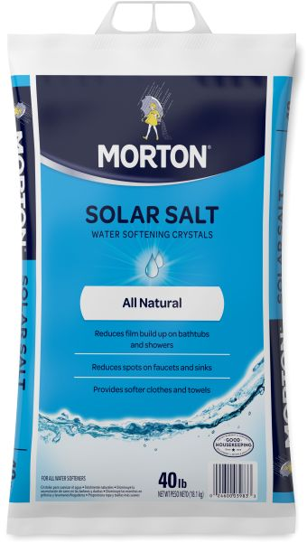 Do you have spotty dishes? Buildup in your shower? How about dry, itchy skin? Or laundry that feels like sandpaper? Then you may have hard water. And you're not alone. Hard water affects three out of four households in the U.S.   The solution is to soften your water. Morton® Water Softener Salts can help. As the #1 brand of water softening salt, Morton can help you discover why soft water is better water.