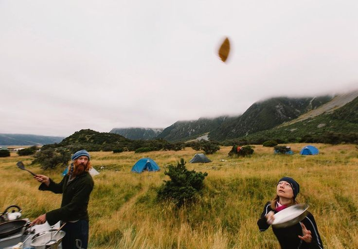 Pancake flipping on the Ultimate South hiking trip - gotta be done! Makes them taste better