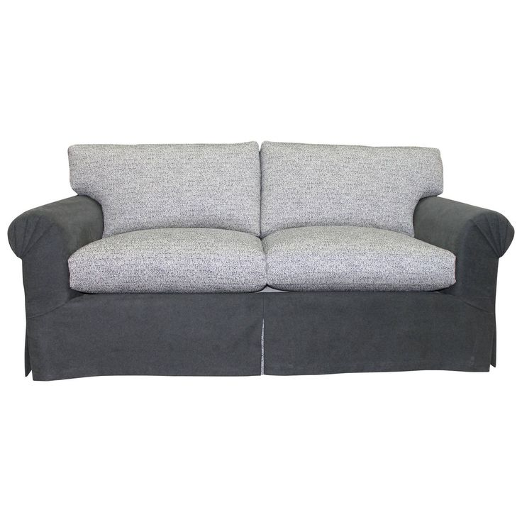 Elegant and Very Comfortable, Fully Refurbished Sofa in Grey Flannel and Linen   From a unique collection of antique and modern sofas at https://www.1stdibs.com/furniture/seating/sofas/