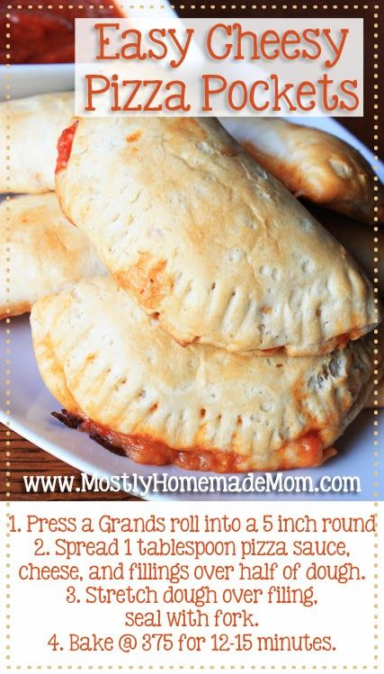 Easy Cheesy Pizza Pockets - why buy the frozen version when you can make them at home in minutes?
