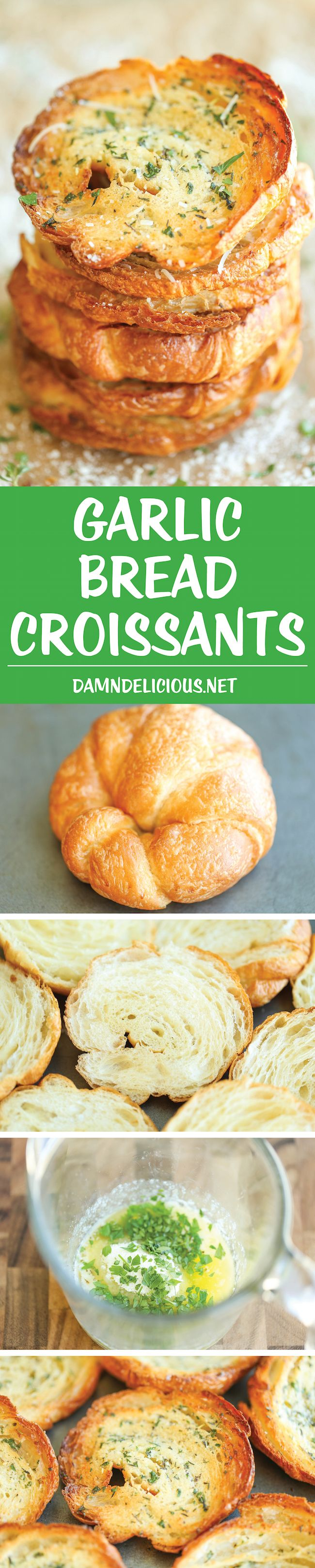 Garlic Bread Croissants - The absolute BEST kind of garlic bread - it's truly irresistible and you won't be able to stop eating this until they're all gone!