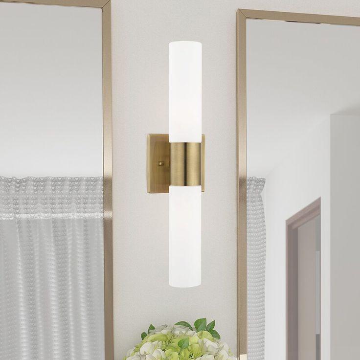 Zipcode Design™ Kneeland 2-Light Dimmable Bath Bar ... on Wayfair Bathroom Sconces id=59141