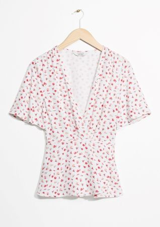 & Other Stories | Mini Floral Print Blouse