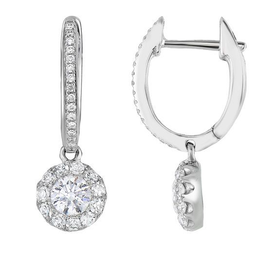 e6c509414 Adorne Collection 5/8 CT. T.w. Composite Diamond Drop Earrings in ...
