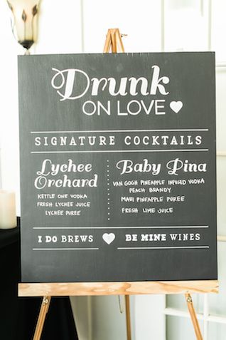 Signature cocktail sign | Rebecca Arthurs Photography | see more on: http://burnettsboards.com/2015/04/oahu-ranch-wedding/