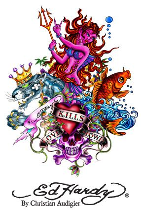 Ed HArdy - I like that Mermaid!