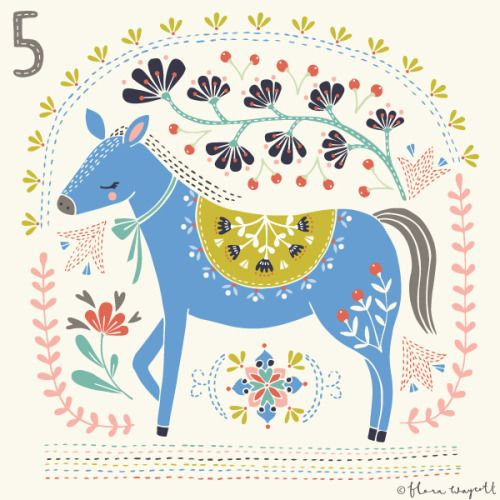 Flora Waycott Christmas Advent 2015 Day 5 - all I want for Christmas is this blue horse! xx
