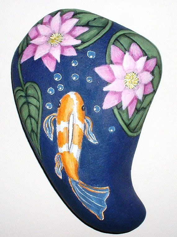 17 best images about painted rocks on pinterest cottages for Koi pond rocks