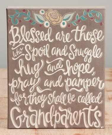 This 'They Shall Be Called Grandparents' Wrapped Canvas is perfect! #zulilyfinds
