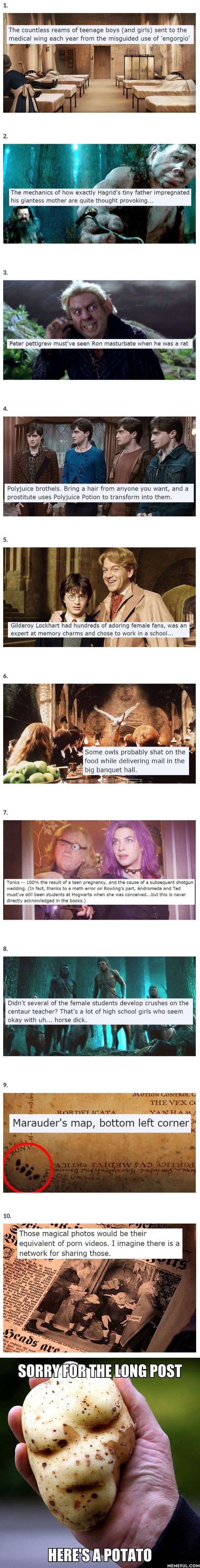 Harry Potter Fans Share The Most NSFW Realizations About Hogwart's