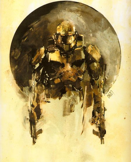 Master Chief Halo Concept Art - Tomorrow's art comes early! :3
