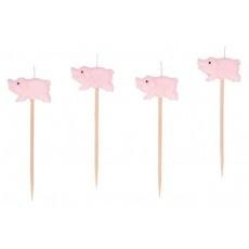8 mini velas de cumpleaños de cerditos rosas, perfectas para celebrar fiestas de cumpleaños de peppa pig!
