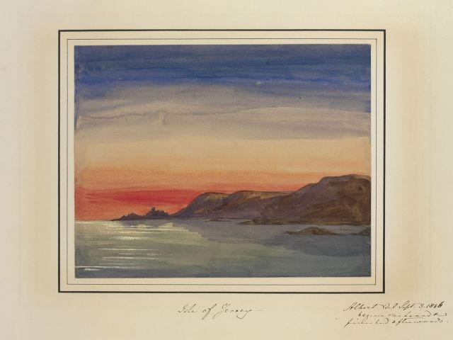 Isle of Jersey  dated 3 Sept 1846 by Prince Albert, Prince Consort, consort of Victoria, Queen of the United Kingdom (1819-61)
