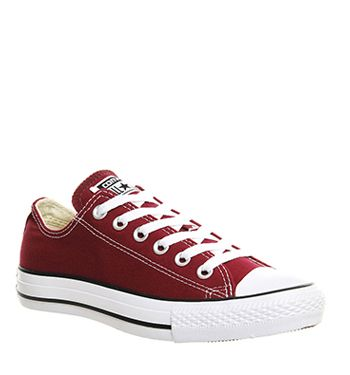 Converse, All Star Low, Maroon Canvas