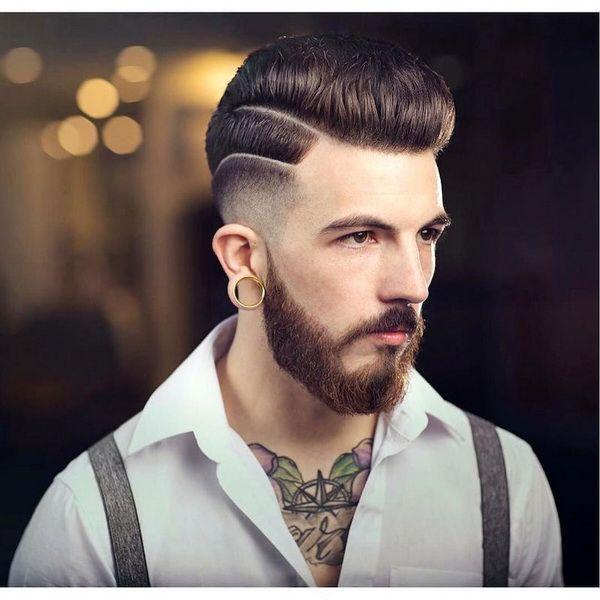 hohe Lo verblassen + mittlere Pompadour #men #hairstyles #models #frisuren #Männer
