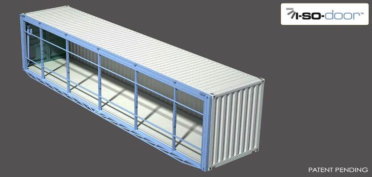 Hydroswing Hydraulic ISO Container Door Closed View 40 ft