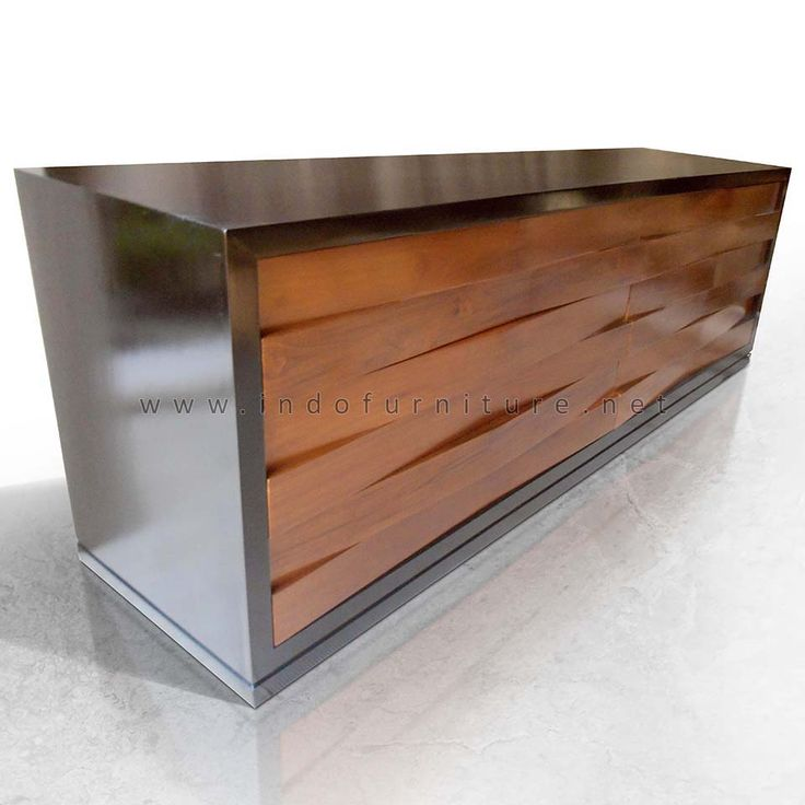 Sideboard Minimalis Jati 6 Laci   Indo Furniture