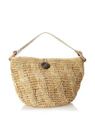 62% OFF Florabella Women's Samara Crochet Raffia and Leather Hobo, Natural
