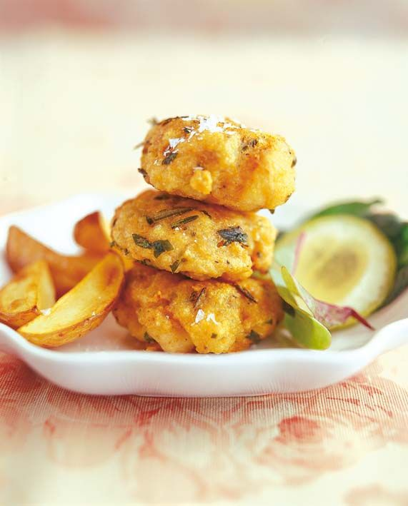 Fishcakes with fresh herbs