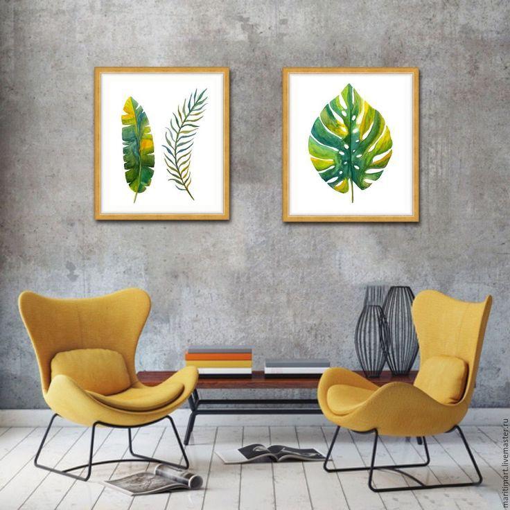 умное постеры для интерьера листья вновь