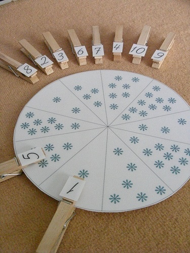 Children will have to match the number to the amount of snowflakes there is on the circle.