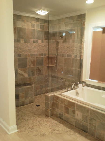 Tiled Shower. Garden TubTiled ShowersBathroom DesignsBathroom ... Part 59