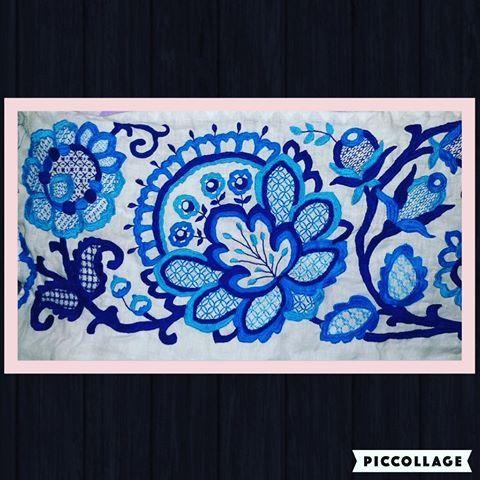Estamos trabajando para ustedes, pollera zurcida calada en tonos turquesa y azul en confección, escríbenos a nuestro correo, por…