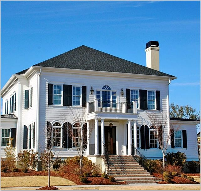 119 best images about white house black shutters on pinterest for South carolina home builders