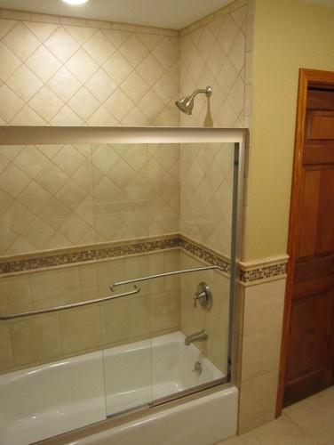 Bathroom traditional bathroom.  I like the tile around the tub.