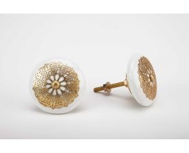 Lace Ceramic Knobs (Set of 2)