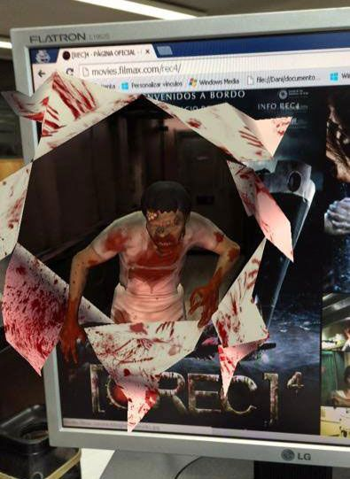 #[REC]4 zombie is coming out from the screen #augmentedreality #animation