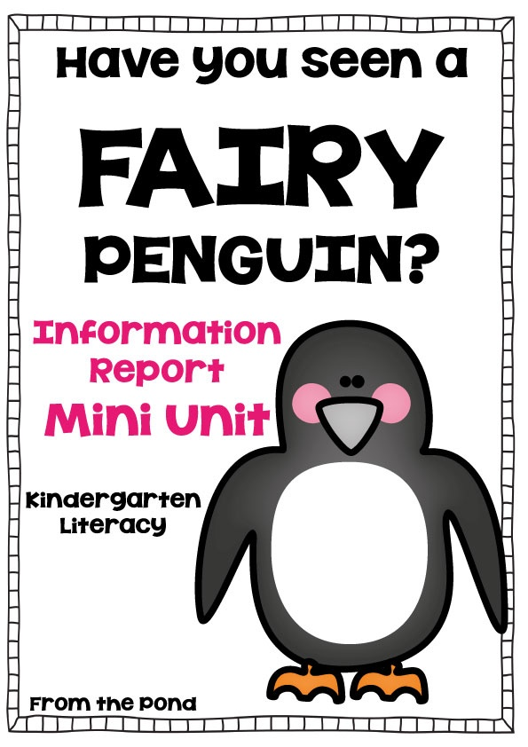 Fairy Penguin  Information Report Mini Unit  Kinder Writing