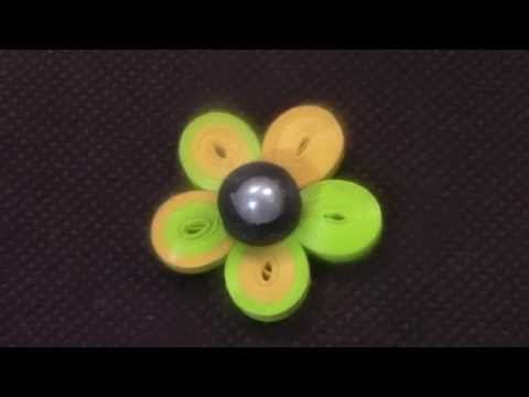 Quilling Flower Tutorial-1 - YouTube