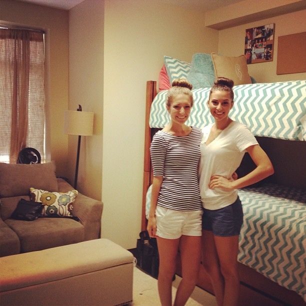 The beauty of matching bed covers in a dorm room :)