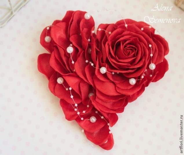 МК Валентинка-роза из фоамирана