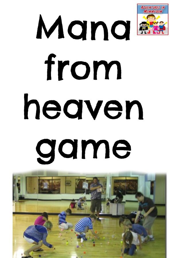 Mana From Heaven Game Sunday School Games School Games