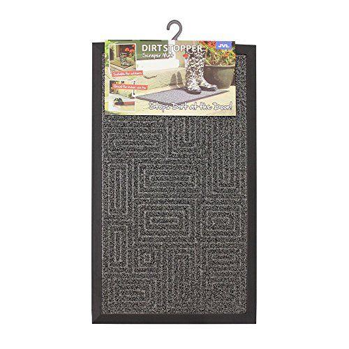 JVL Patterned Dirt Stopper Scraper Maze Design Entrance Door Mat, TE PP/Rubber, Grey, 45 x 75 cm #Patterned #Dirt #Stopper #Scraper #Maze #Design #Entrance #Door #Mat, #PP/Rubber, #Grey,